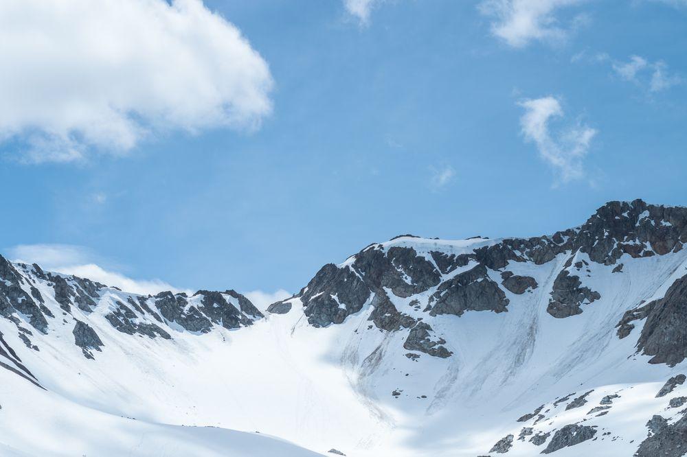 summit of mountain peak