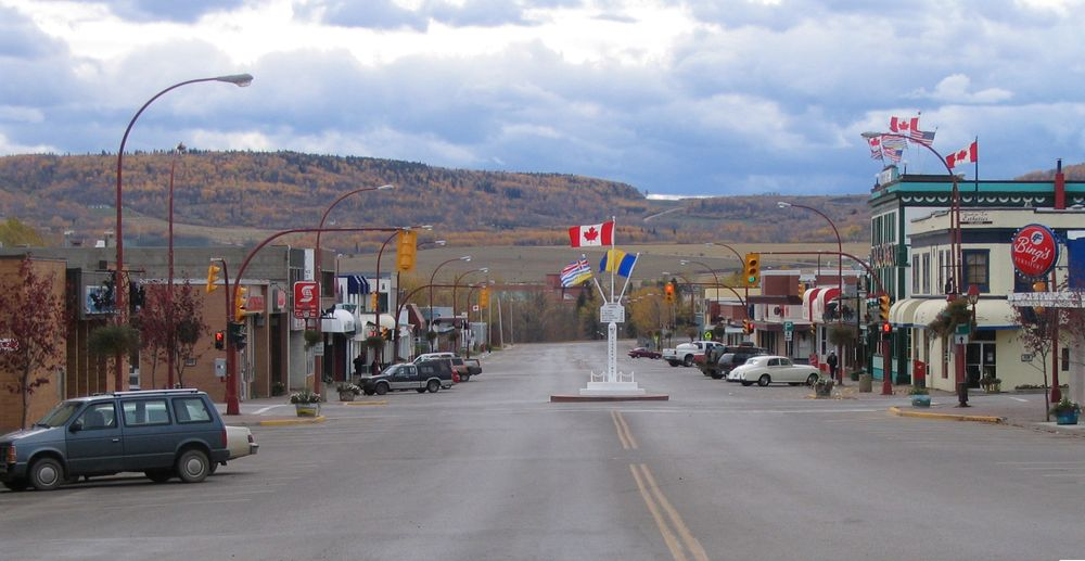Dawson Creek a small city in Canada