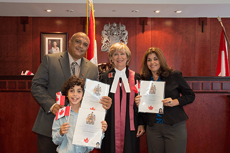 immigrants being granted Canadian residence