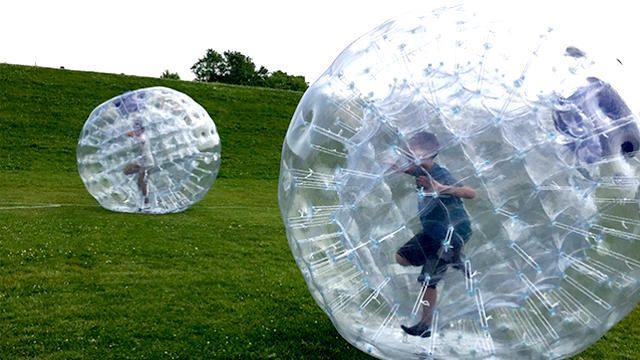 children in human hamster ball