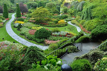Stunning Butchart Gardens in Victoria