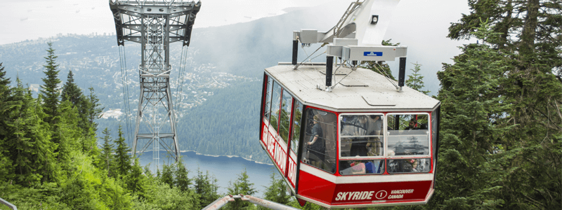 Grouse Mountain a tourist hotspot in Vancouver