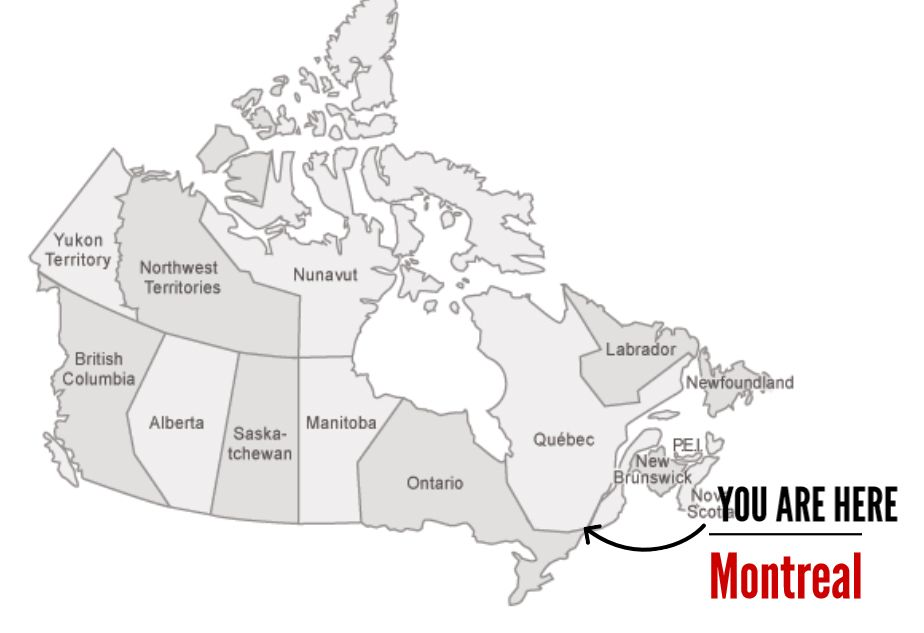 You are here map of Canada