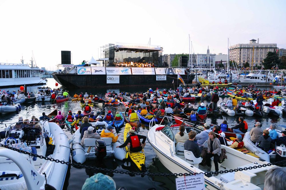 Victoria Symphony performance in Victoria Harbor Canada