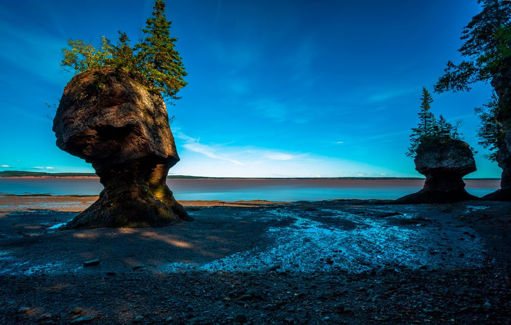 Hopewell Rocks in Fundy National Park, New Brunswick