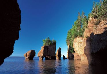 40 foot tall hopewell rocks at fundy national park