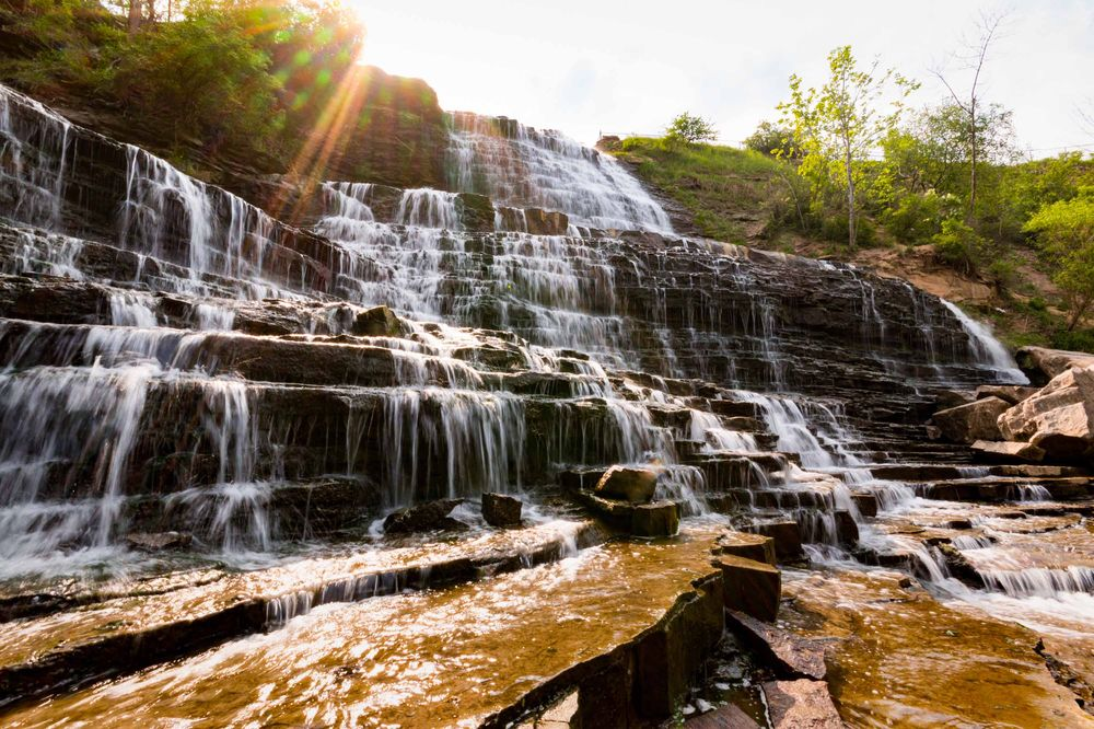 waterfalls in Hamilton Canada