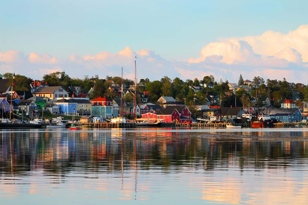 View of the famous harbor front of Lunenburg Waterfront Halifax