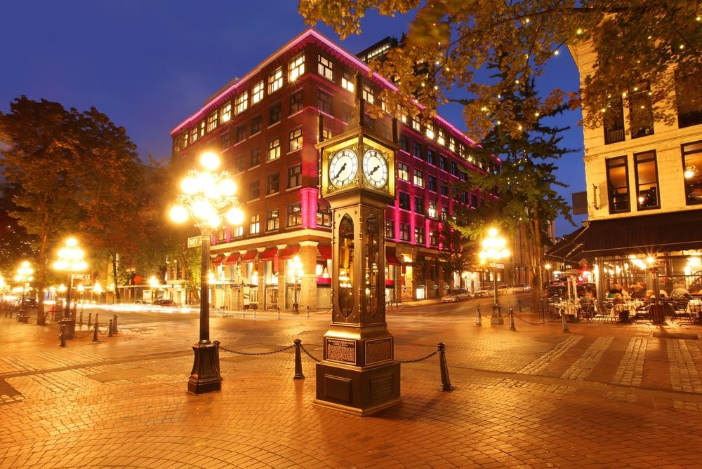 Historical steam clock in Gastown Vancouver