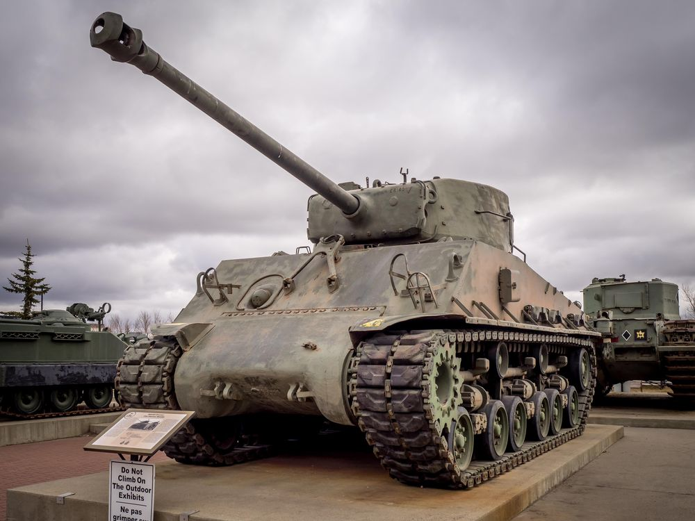 Old Canadian tank on display at museum
