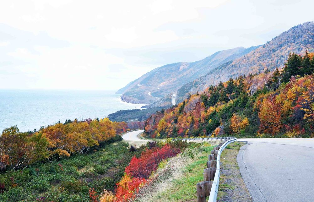 The Cabot Trail in peak fall colours