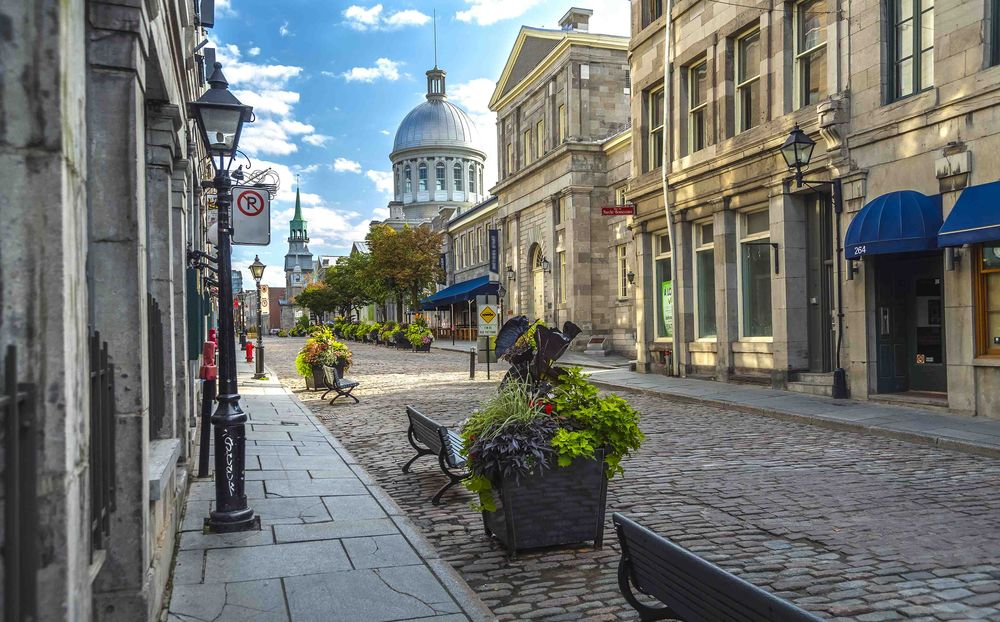 Old Montreal, Quebec, Canada in the early morning