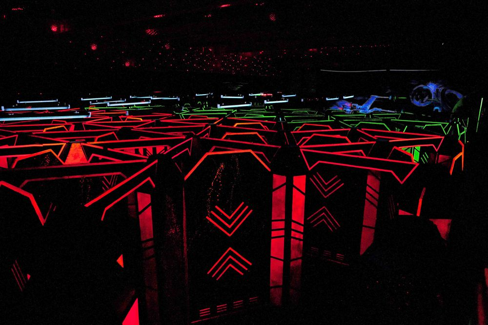 Laser tag maze in Mississauga.