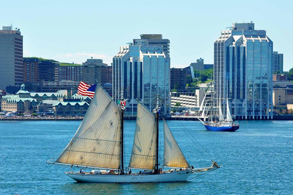 Ships in Halifax Habor Nova Scotia