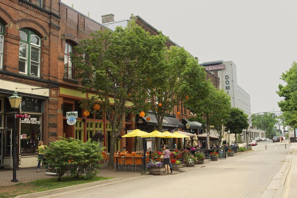 Shops along Victoria Row in Charlottetown, Canada