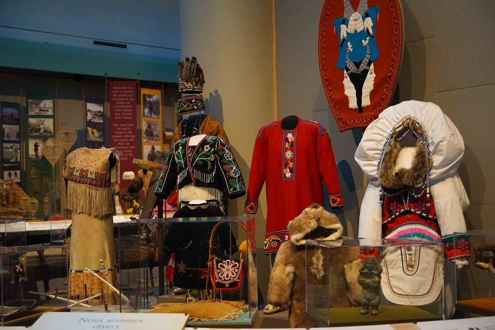 traditional oboriginal attire found at the canadian museum in ottawa