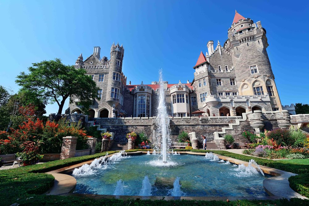 Front entrance of the Casa Loma Castle in Toronto