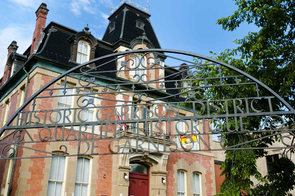 Entrance to the Historic Garrison District in Fredericton, Canada.