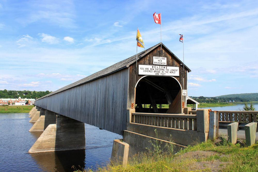 The longest wooden covered bridge in the world.