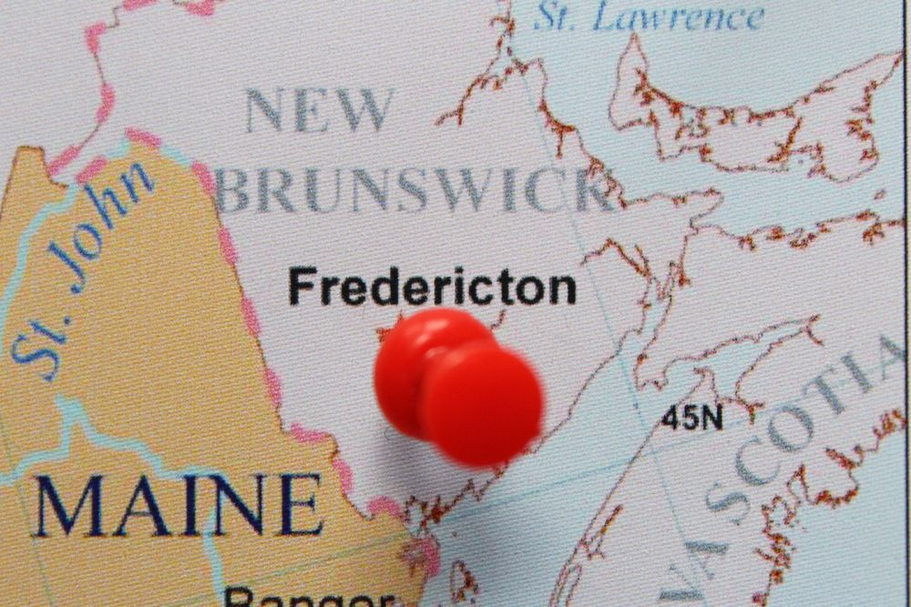 map of fredericton canada