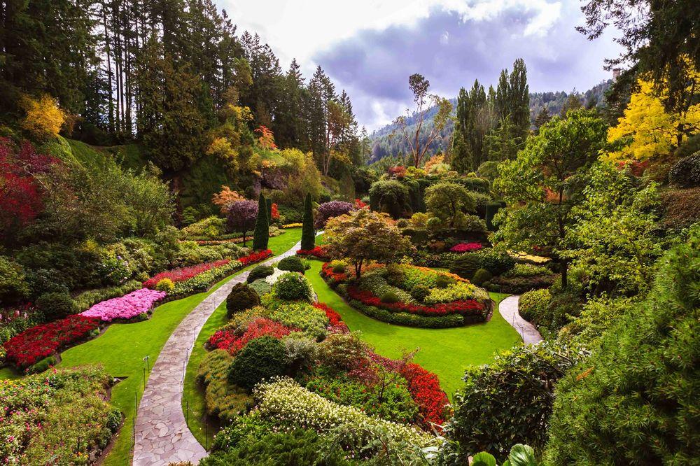 Historic site Butchart Gardens, Victoria, BC