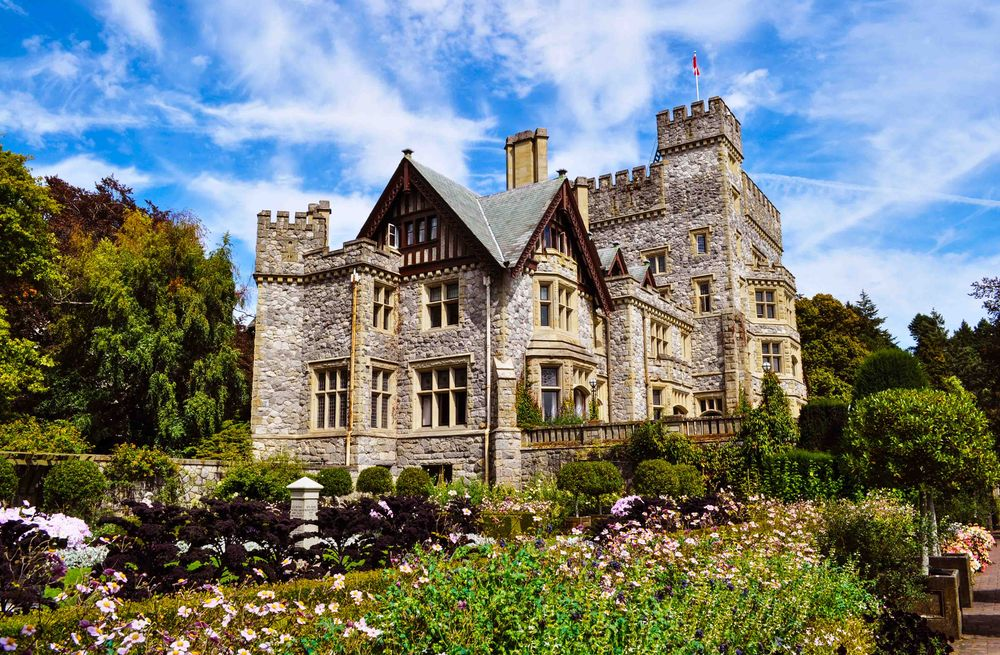 Hatley Castle national historic site in Victoria, BC
