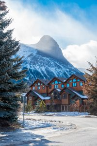 Stunning town of Canmore, Alberta, BC