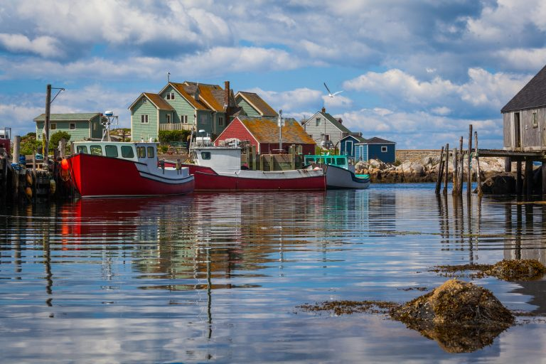 Fishermen houses in Peggy's Cove, Nova Scotia, Canada