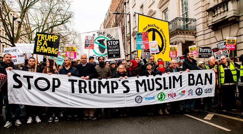 Protesting against trump