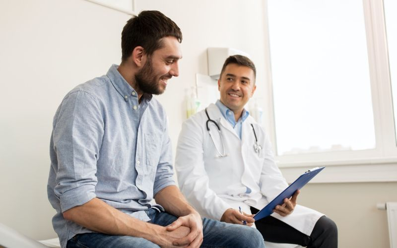 Man seeing a doctor in Canada