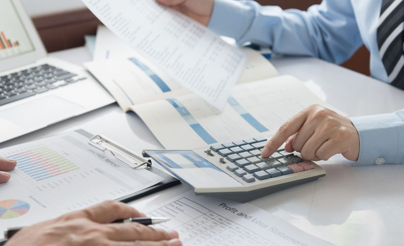 crunching accounting numbers at work in Canada