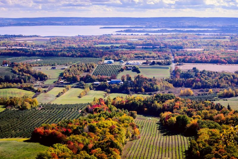 Annapolis Valley Nova Scotia farmlands