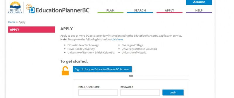 BC Education planner IMAGE