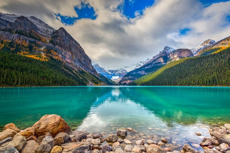 Banff national park, lakeside, Canada
