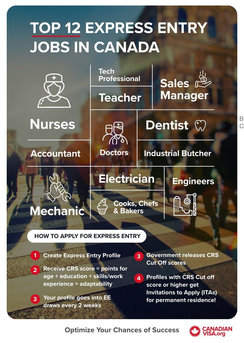 top express entry jobs in Canada infographic   immigration to Canada