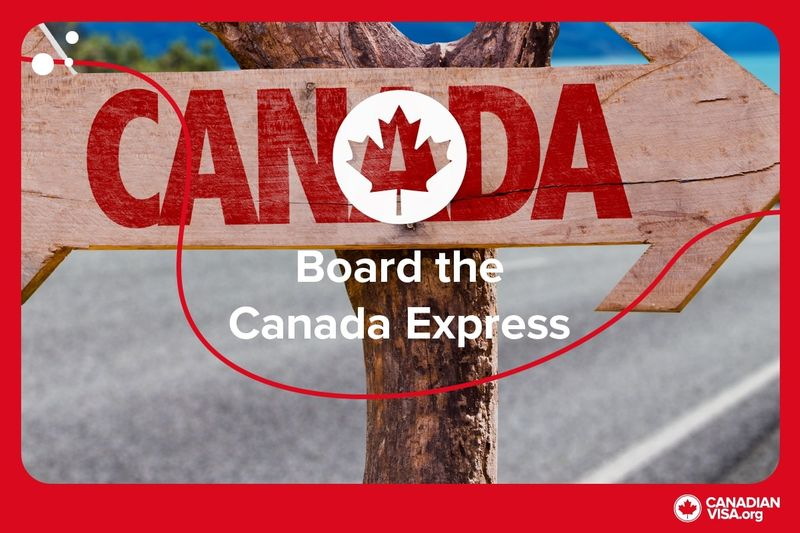 wooden Canada sign post | Canada Express Entry