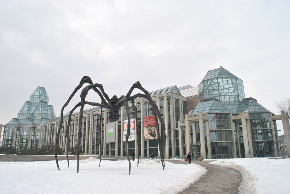 Bronze spiders outside National Gallery of Canada Ottawa
