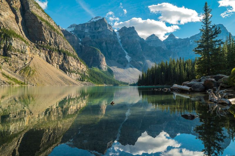 Canadian Rockies and crystal clear lake