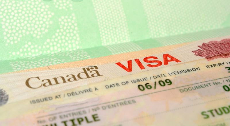 Canadian Visa Stamp close up view-min