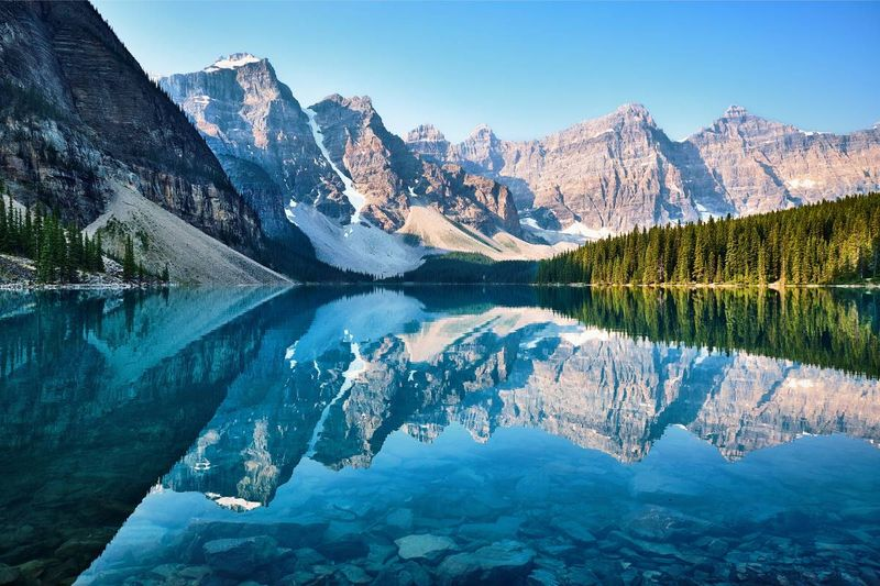 Canadian rockies lake trees canada | Canadian permanent residence