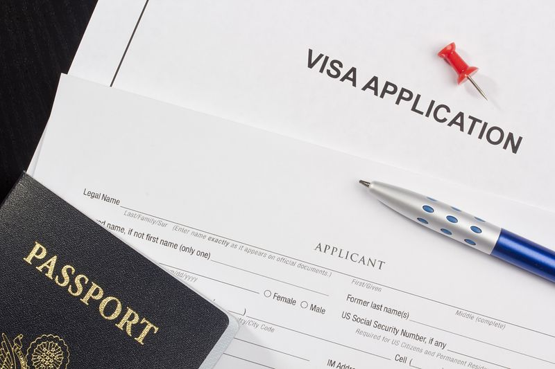Canadian visa application and passport