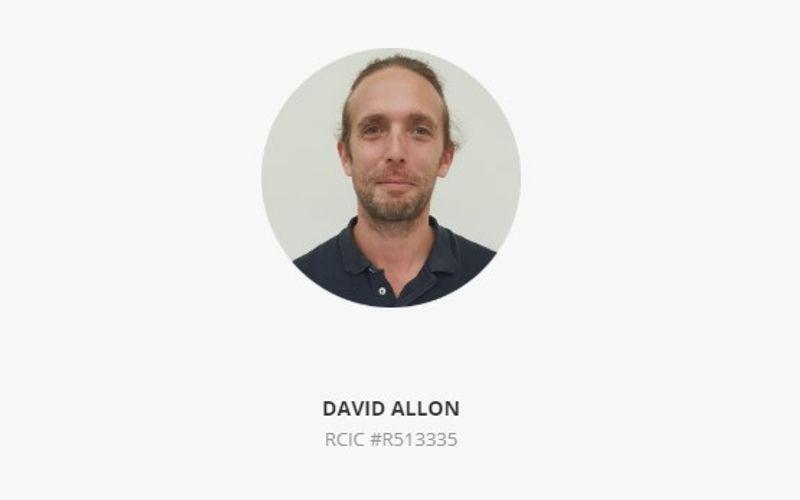 Screenshot of David Allon RCIC   Canadian visa consultant