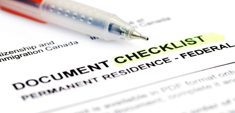 document checklist for canadian immigration