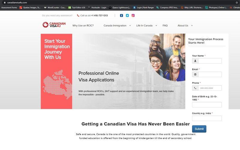 Fraud Canadian visa website | scam or real
