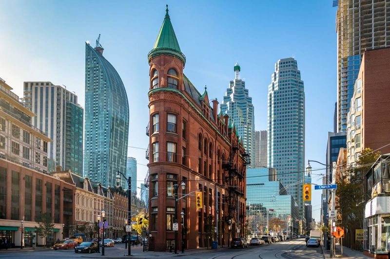 Gooderham-or-Flatiron-Building-in-downtown-Toronto-Ontario-Canada |  settle in Canada