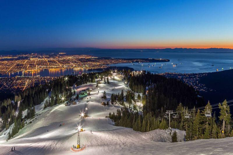 Grouse Mountain winter Canada Christmas