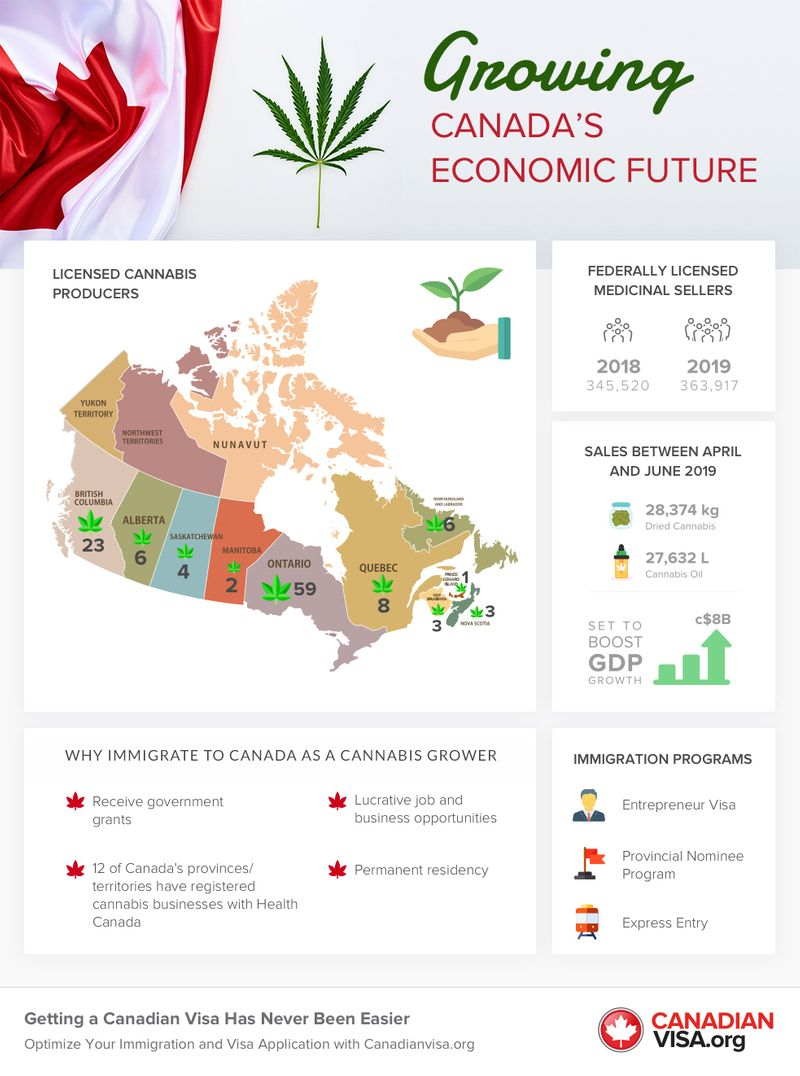 Growing Canada's economic future infographic | immigrate to Canada