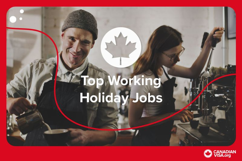 baristas in coffee shop | Working Holiday Visa Canada infographic