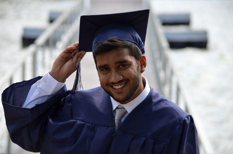 Indian man graduating