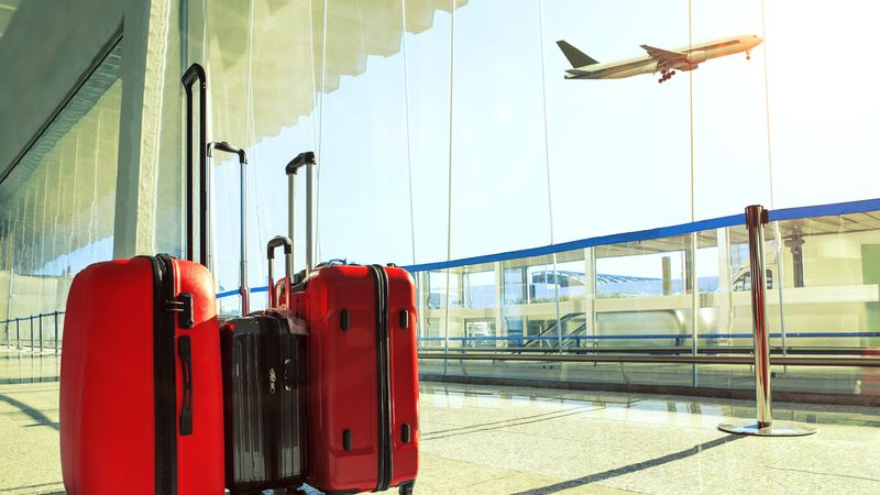 Luggage at airport-immigrate to Canada